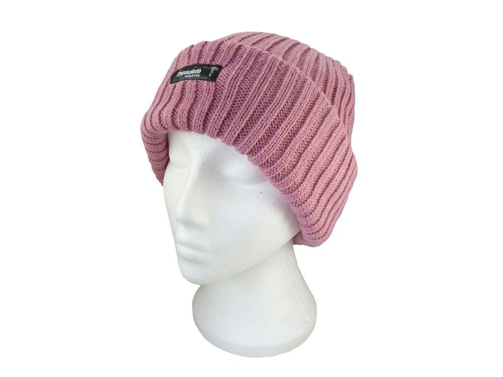 Ladies Pink Beanie Hat - Thinsulate Woolly Hat  7f417565a8a