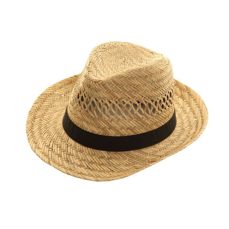 Mens Straw Fedora Hat Natural Straw Summer Hat It S My Hat
