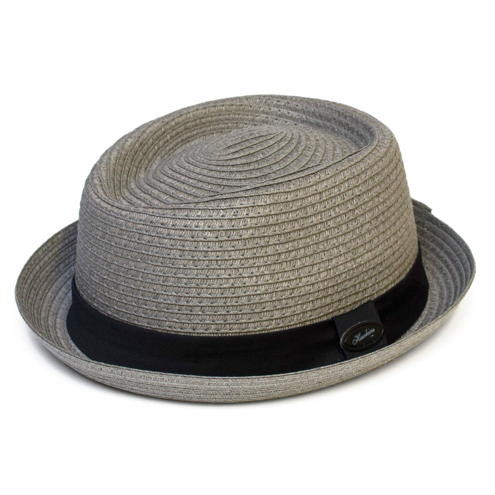 1d23207dc Dark Grey Mens / Ladies Straw Pork Pie Hat - Summer Trilby Cap ...